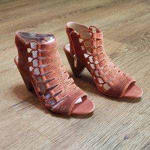 Vince Camuto Leather Orange Sandals.